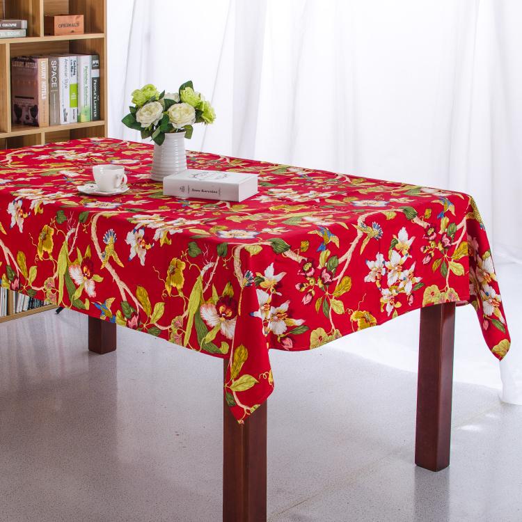100% Cotton Table Cloth Flora High Quality Tablecloth Table Cover manteles para mesa Free Shipping(China (Mainland))