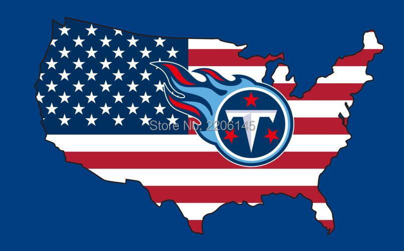 New style 3x5FT Tennessee Titans flag with American banner flag 100D Polyester NFL flag hot sell Tennessee Titans flag(China (Mainland))