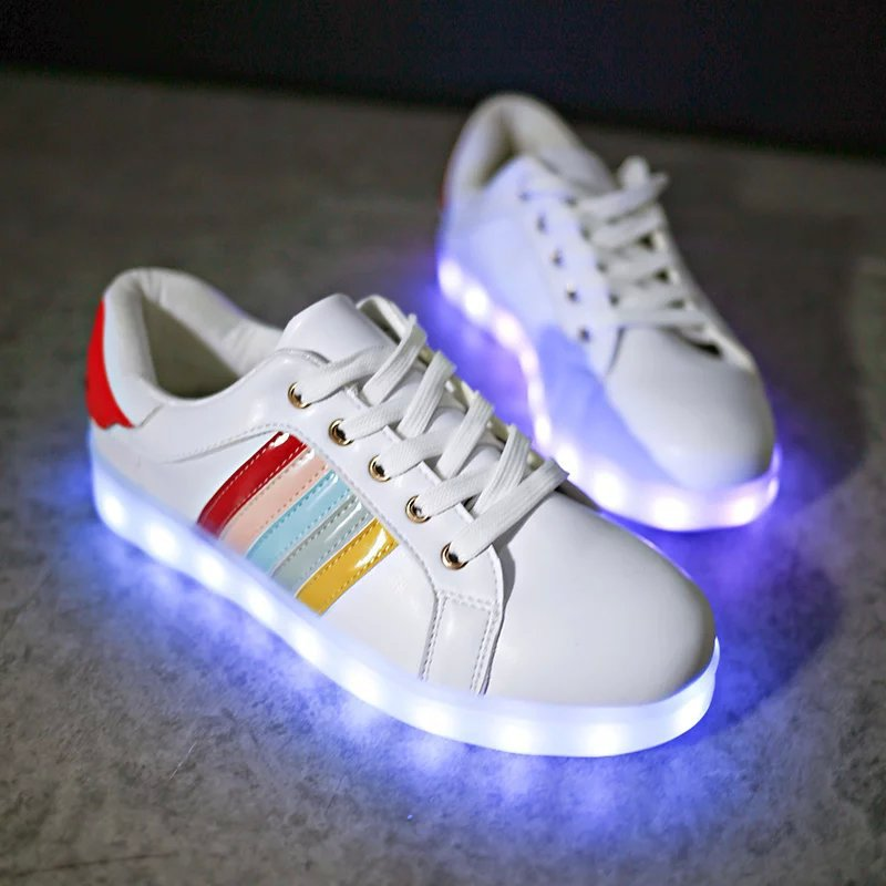 2016 Fashion <font><b>Basket</b></font> Led Shoes for Adults Women Luminous Light Up Shoes for Adults Glowing Chaussure Led Femme Zapatos Mujer