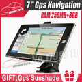 7 inch GPS Navigation DDR3 256MB 8GB Freeshipping 2015 Maps For Russia Belarus Kazakhstan Europe USA