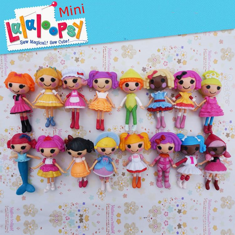 2016 New button eyes mini Lalaloopsy dolls child birthday ...
