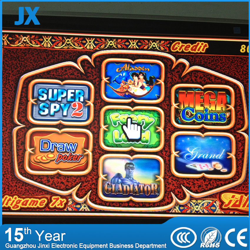 Multigame 7X board casino game pcb Red Slot Game Board 7 in 1 poker games for Casino Machine gambling Machine(China (Mainland))