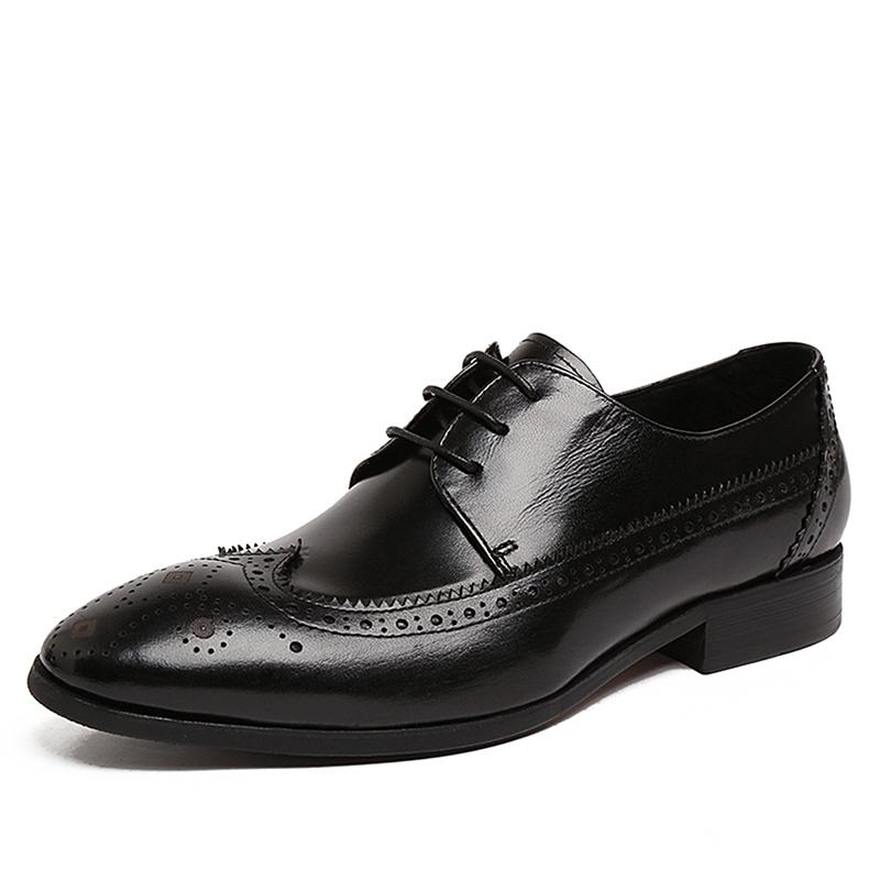 2015 Brand Casual Men's Genuine Leather Oxfords Shoes Fur Waterproof Work Mens Oxford Dress Shoes Shoes Famous  Flat Shoes Men