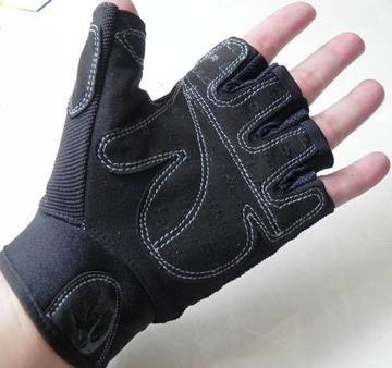 Brand men sport gym gloves weight lifting fingerless gloves black workout Equipment training gloves