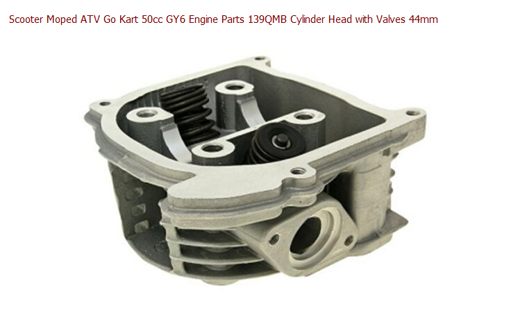 Scooter Moped ATV Go Kart 50cc font b GY6 b font Engine Parts 139QMB Cylinder Head