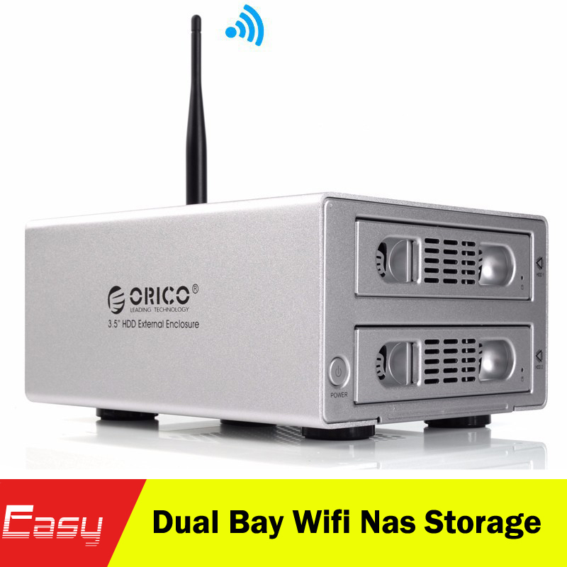 Купить ORICO 3529U3RF 2bay Wifi NAS 3.5'' HDD Enclosure Wireless Storage Home Cloud Storage HDD Case