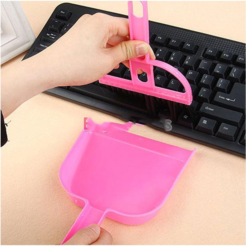 DollarMart buyable Mini Computer Keyboard Desk Table Brush Whisk Dust Dustpan Broom Netbook Cleaner superble(China (Mainland))