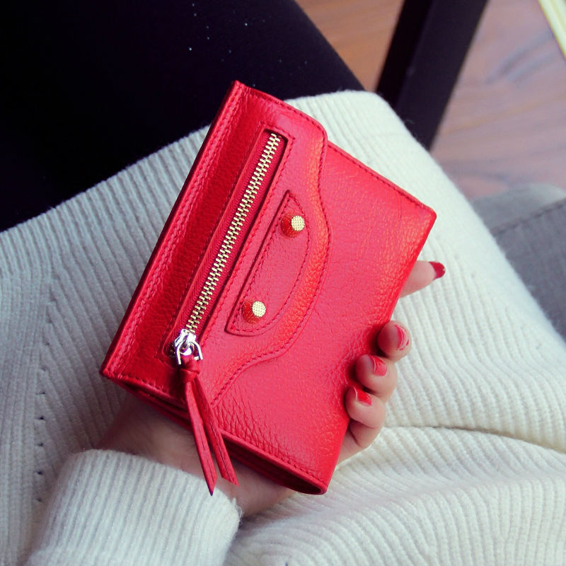 2016 Short Lady Wallets Brand Design High Quality Small Purse Bag Woman Purchases Slim Coin Purse Zip Unique Pink Pretty Wallets(China (Mainland))