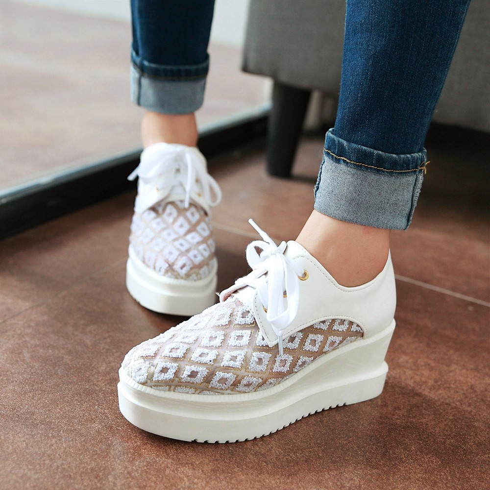 Fashion Platform Pumps Women Shoes For spring Fall High Heels Casual Shoes Sexy lace up Outdoor Pumps Platform Shoes woman<br><br>Aliexpress