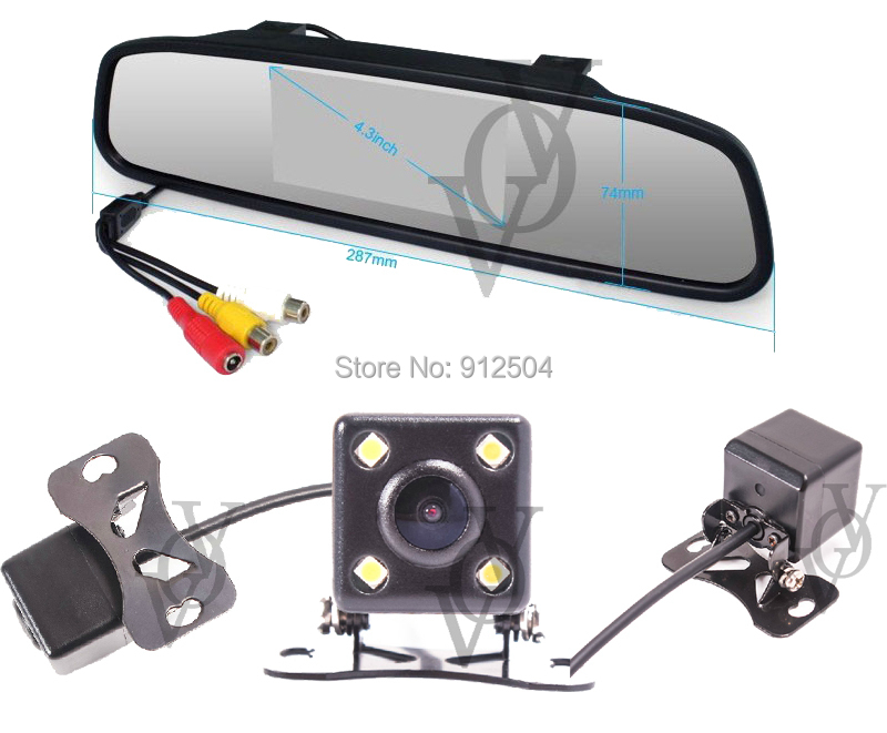 4.3 Inch TFT Car LCD Rearview Mirror HD Display DVD Monitor Camera CA407 - Shenzhen VOV Technology Co., Ltd. store