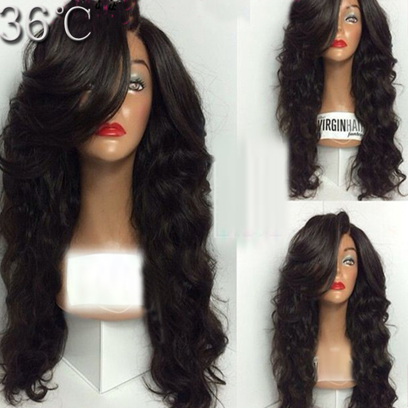 150 Density Human Hair Full Lace Wigs Wavy Front Lace Wig Human Hair Wig For Black Women 8A Malaysian Virgin Hair Wigs Fashion<br><br>Aliexpress