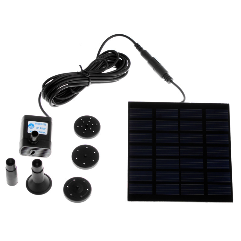 High Quality Solar-Powered Pump Brushless DC Solar Power Fountain Pool Water Pump Garden Plants Watering Kit solar pond pump kit(China (Mainland))