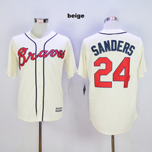 2016 short sleeve atlanta braves jersey throwback new patch top quality #10 Chipper Jones jerseys #24 Deion Sanders jersey(China (Mainland))