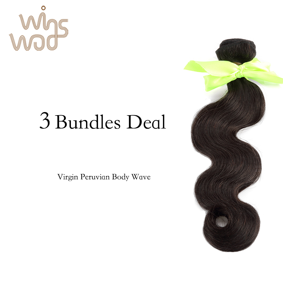 5A Queen Hair Products Peruvian Virgin Hair Body Wave 3 Pcs Lot Mix length, New Star Hair Virgin Peruvian Wavy Hair Bundles<br>