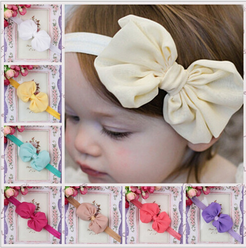 2014 new arrive fashion bow flower baby girl headband kids hair accessories hair band retail & wholesale(China (Mainland))