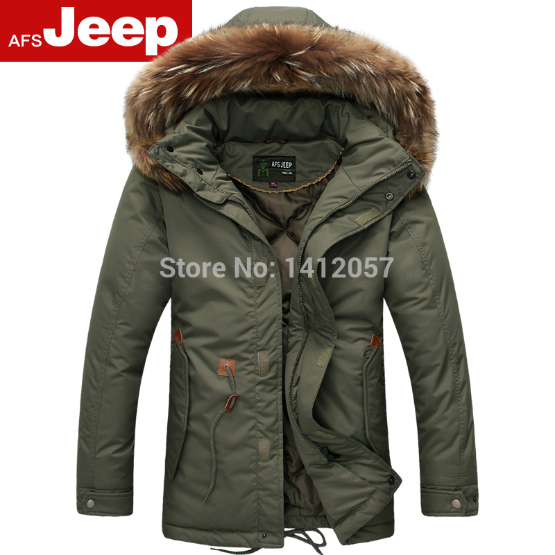 2014 Special Offer Freeshipping Long Rib Sleeve Woven 100 Hooded Solid New Men s Big Fur