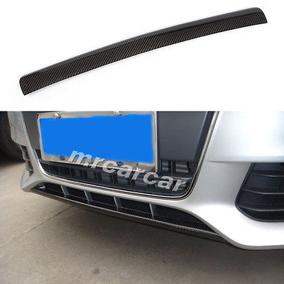 Front Lip Carbon Fiber Chin Spoiler O Style Fit For Audi A4 B8 Non-Sline Bumper 2009-2012(China (Mainland))