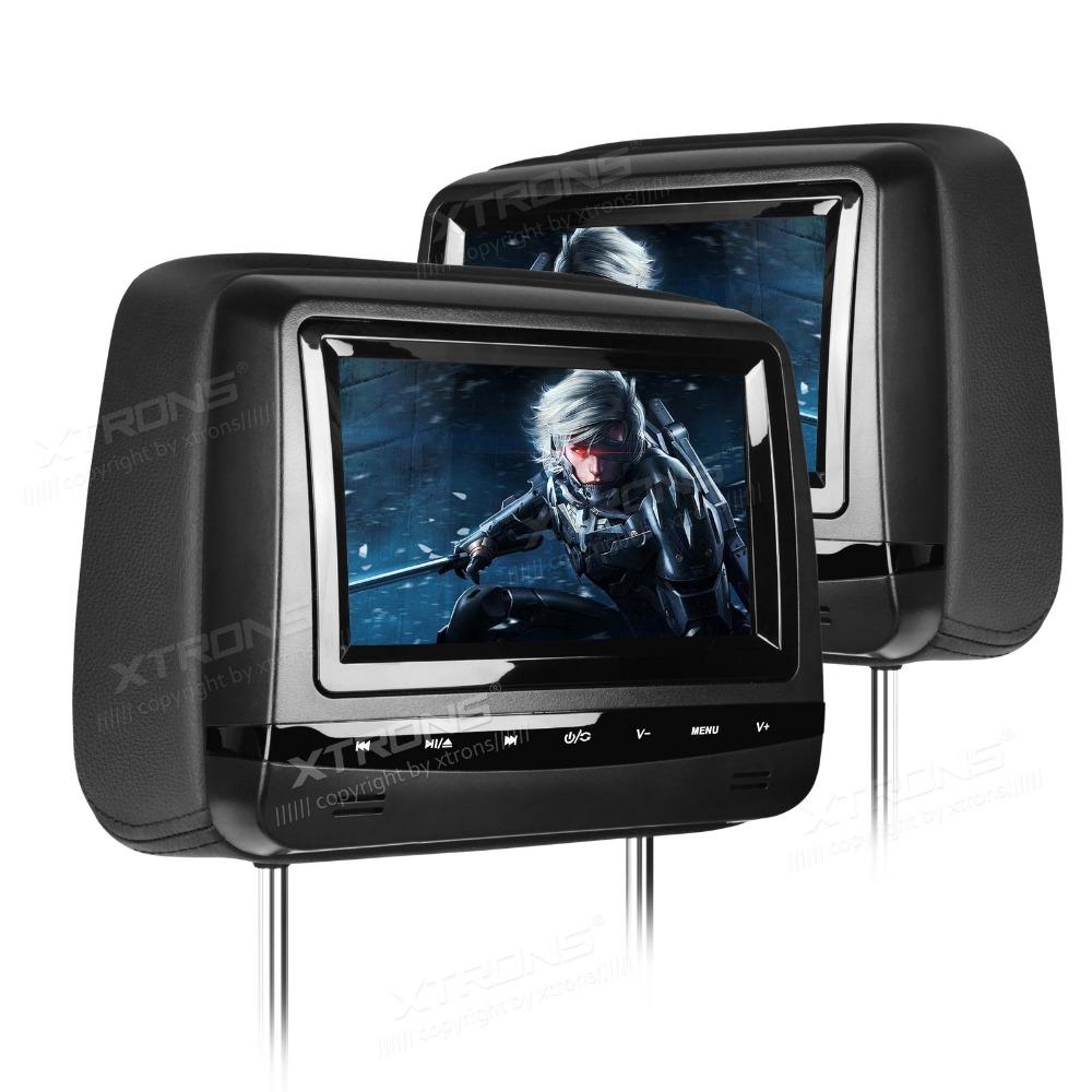 "2x7"" Sleek Piano Black Headrest Car DVD Car Headrest DVD Headrest Monitor DVD with Touch Panel Design & Adjustable Screen Angles(China (Mainland))"