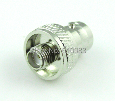 Free shipping (5pieces/lot) SMA to BNC adapter SMA female Jack to BNC female Jack New style connector Nickelplated straight(China (Mainland))