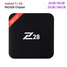 Buy Newest Z28 TV Box Android 7.1 Rockchip RK3328 64-bit Quad Core 1GB/8GB 2GB/16GB 4Kx2K USB 3.0 2.4G WiFi 4k Smart Media player for $37.99 in AliExpress store