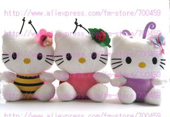 Hot sale! 12pcs Animals Series hello kitty Children's lovely doll soft Toy Plush Toys A3+Free Shipping