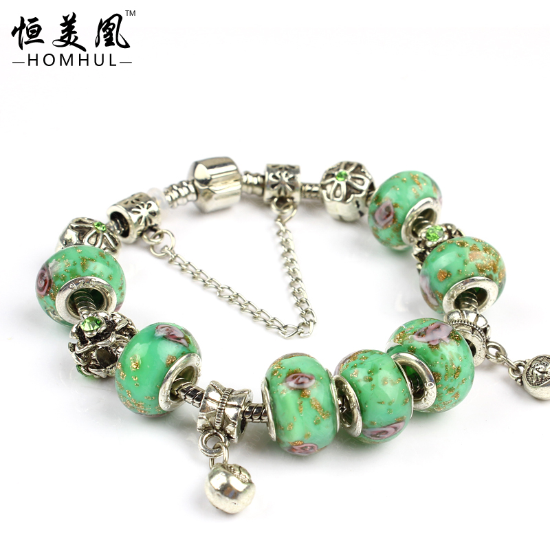 free shipping hot sale 925 silver bead bracelet fits