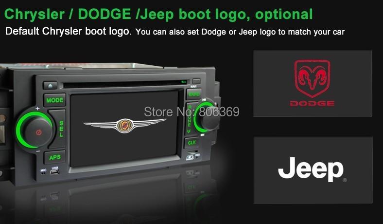 "free map 5"" Car DVD For Chrysler 300C PT Cruiser Dodge Ram Jeep Grand Cherokee With GPS Navigation Radio Bluetooth ATV iPod(China (Mainland))"