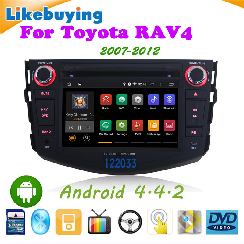 7 Inch 2 DIN Android 4.4.2 Car DVD GPS Player Toyota RAV4 2007 2008 2009 2010 2011 2012 WiFi /free 8G Card Map - Shenzhen Being Lucky Trading Co.,Ltd store