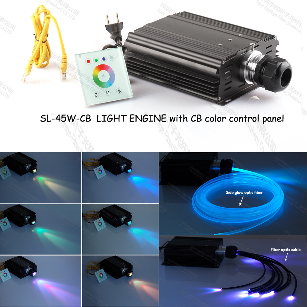 CB color 45W led fiber optic light source generator for underwater led lights bathtubs(China (Mainland))