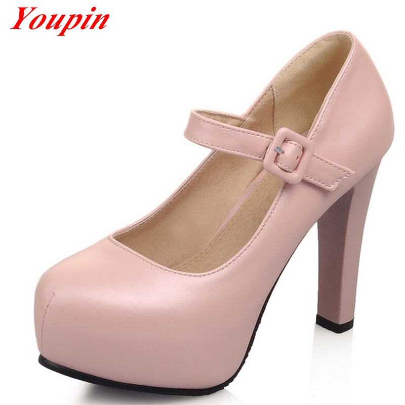 Spring 2015 fashion shoes, sexy and comfortable high-heeled shoes, head womens high-heeled shoes 32-43<br><br>Aliexpress