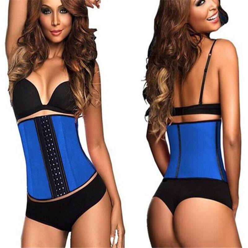 Women Slim Latex Waist Shaper Cinchers Corset Training Body Suit Rubble Black Cincher - Pupated Amy's Store store