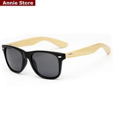 Brand design rivets classic 2016 bamboo sunglasses mens women real bamboo sun glasses mirror matte black uv400 gafas sol(China (Mainland))