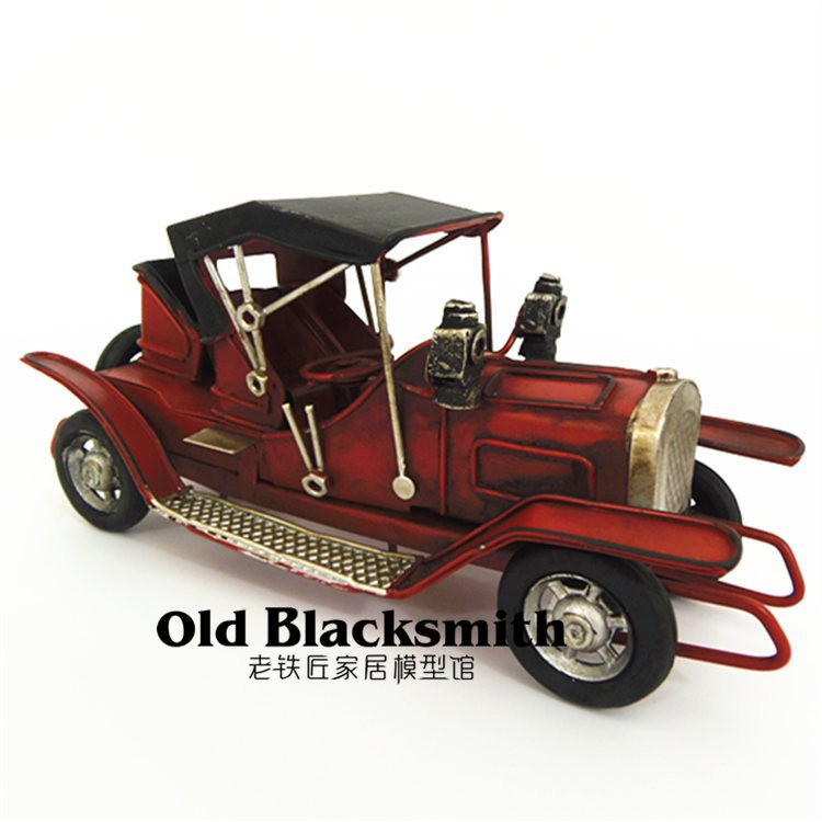 3 Color (Yellow/ Red / Navy) Children's Toys Min Vintage Car for Metal craft gifts or Car Toys for Bar Furnishing artwork(China (Mainland))