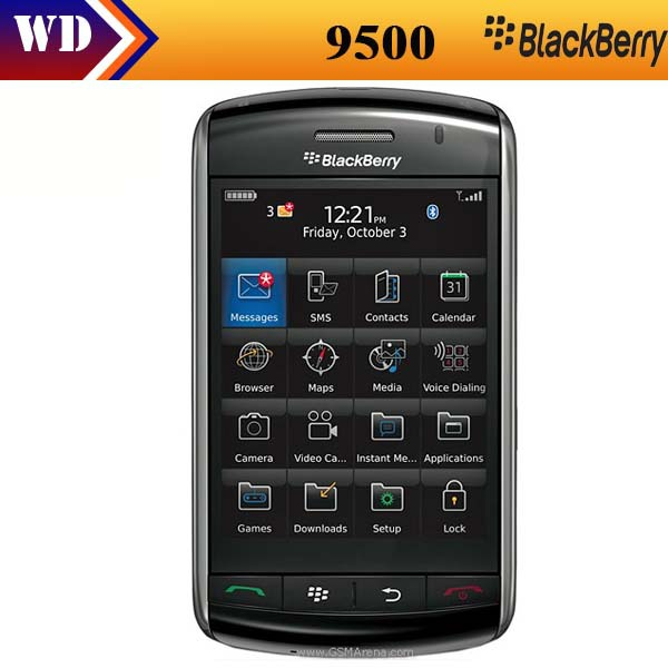 Unlocked original Blackberry 9500 storm unlocked, 3G networks,3.3inch touch screen Mobile cell phone Refurbished(China (Mainland))