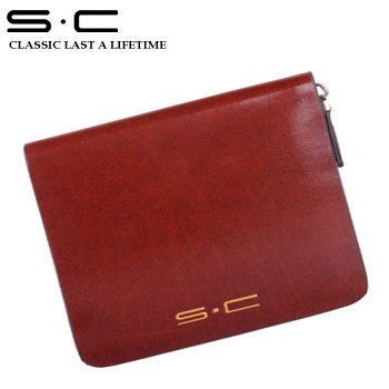 S.C Free Shipping  + Traveller Bi-fold Zipper Wallet LY0004-1