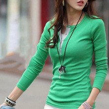 Women Cotton Sweaters Casual Slim Tops Blouse Sweater Outfit Jumper Pullover(China (Mainland))