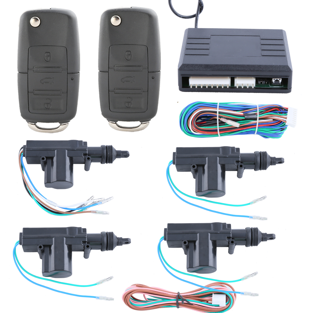 stock! Universal quality remote control central door locking system 4 doors 1 3 custom flip key FOB DC12V - Easyguard electronics Ltd store