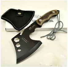 HOT SALE!!!outdoor camping survival fire axe mountain tactical tomahawk axe field tools handmade hatchet color random(China (Mainland))