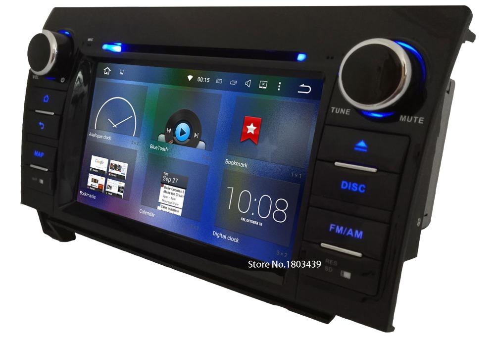 7″ HD Android 6.0 Octa Core 64-Bit 2GB RAM 32GB ROM Car DVD Multimedia Player Stereo Radio GPS For Toyota Tundra Sequoia DAB+ BT