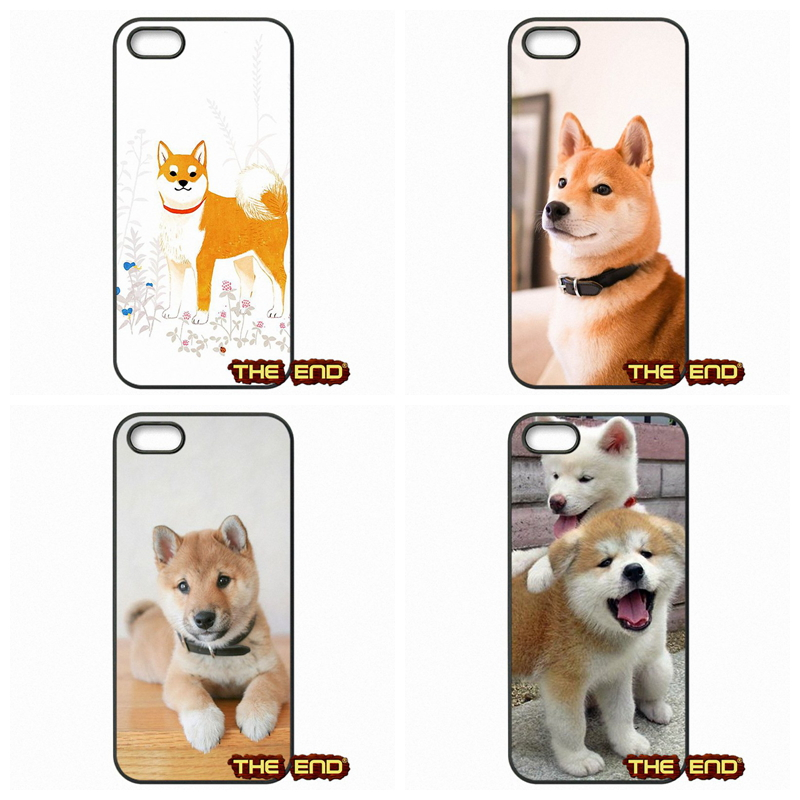 Cute Japanese Baby shiba inu dog Cell Phone Case Cover For Apple iPod Touch 4 5 6 iPhone 4 4S 5 5C SE 6 6S Plus 4.7 5.5(China (Mainland))
