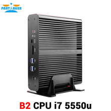 Buy Newest Intel Core i7 5550U Intel HD Graphics 6000 Fanless Mini PC Dual Lan Dual HDMI 300M wifi for $335.72 in AliExpress store