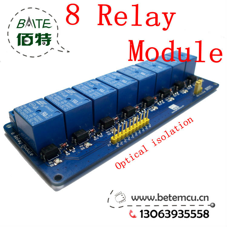 10pcs New 5V 8 Channel Relay Module Board for Arduino PIC AVR MCU DSP ARM Electronic