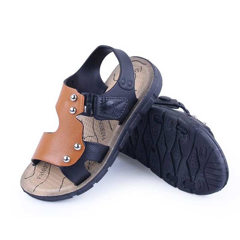 Kids Beach Shoes Hot Summer 2016 Boys Sandals Flat Child Slippers EU Size20-35Flip Flops Kids Boys Beach Shoes(China (Mainland))