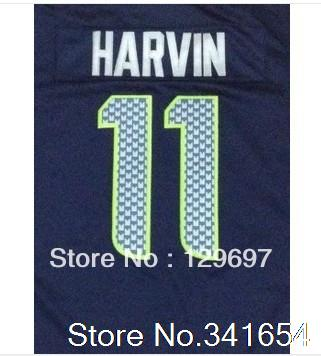 Free Shipping #11 Percy Harvin Men's Game Football Jersey,Embroidery and Sewing Logos,Size S--3XL(China (Mainland))
