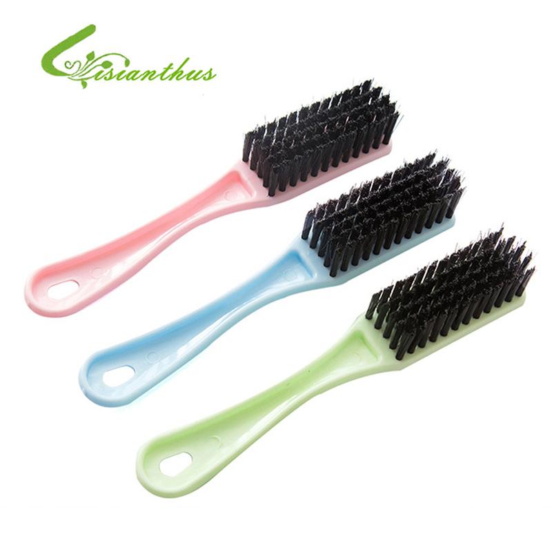 5Pcs/ Lot 2016 Cheap Portable Household Clean Shoes Clothing Brush Crystal Wash Brush Plastic Clean Shoe Brush Clothing Brushs(China (Mainland))