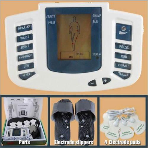 Health Care! JR-309 New Electrical Stimulator Full Body Relax Muscle Massager,Pulse tens Acupuncture with therapy slipper+ 4pads(China (Mainland))