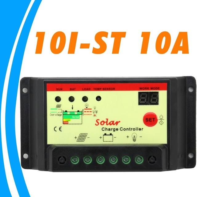 10A Solar Charge Controller 12V 24V solar panel battery charge discharge Solar Regulator with Light & Timer Control 15hours New