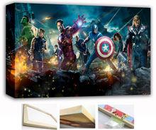 Wood Canvas Frame The Avengers Avenger All Cast 1 2 Movie 36x24,30x20,20x12 inch Art Wall Print Captain Thor Hulk Iron Man (014)(China (Mainland))