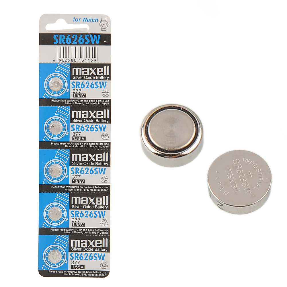 5X/Lot 5pcs Maxell SR626SW 377 SR66 Silver Oxide Alkaline Battery Cell For Watch High Quality Brand New(China (Mainland))
