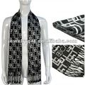 Classic design men s winter scarves fashion black striped echarpe men wool viscose scarf shawls NL